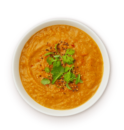 Lentil roasted sweet potato dahl