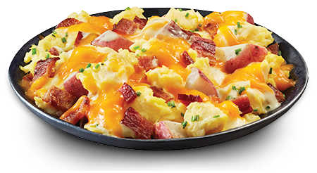 Bacon & Egg Scramble with Cheddar Cheese