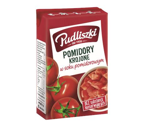 Pomidory krojone w soku pomidorowym 390 g