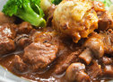Slow Cooked Beef and Mushroom with Parsley Dumplings