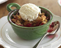 Quick Boysenberry and Apple Crumble