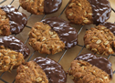 Choc Dipped Anzac Biscuits