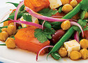 Roast Pumpkin Chickpea and Feta Salad