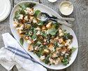 Kumara, Spinach and Chorizo Salad