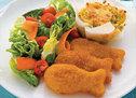 Fish Flips with Potato Vege Cakes