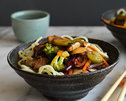 Honey Soy Beef and Noodle Stir-Fry
